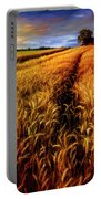 Amber Waves Of Grain Painting  Portable Battery Charger