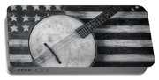 American Banjo Black And White Portable Battery Charger