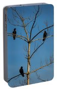 American Crows In Bare Tree Portable Battery Charger