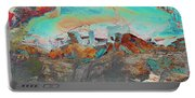 American Indian Home In Abstract Portable Battery Charger