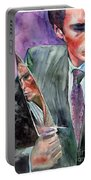 American Psycho Painting Portable Battery Charger
