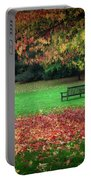 An Autumn Bench At Clyne Gardens Portable Battery Charger