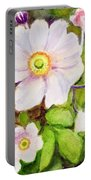 Anemones Birthday Card Portable Battery Charger