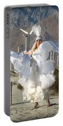 Angel Swirling In The Desert Portable Battery Charger