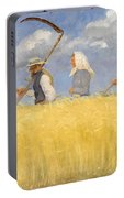 Anna Ancher - Harvesters Portable Battery Charger