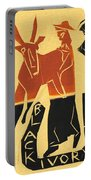 Antelope Black Ivory Woodcut9 Portable Battery Charger