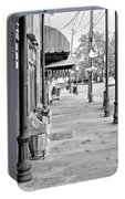 Antique Alley In Black And White Portable Battery Charger