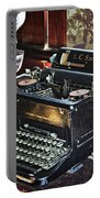 Antique Typewriter 2 Portable Battery Charger