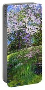 Apple Blossom Trees Portable Battery Charger