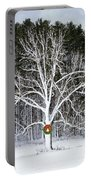 Appleton Tree In Holiday Dress Portable Battery Charger