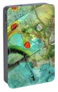 Aqua And Yellow Abstract Art - Juxtaposition - Sharon Cummings Portable Battery Charger