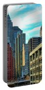 Architecture Nyc From Brooklyn Bridge  Portable Battery Charger