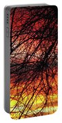 Arizona Sunset Through Branches Portable Battery Charger