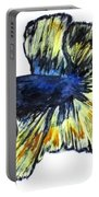 Art Doodle No.34 Betta Fish Portable Battery Charger by Clyde J Kell