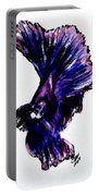 Art Doodle No.35 Betta Fish Portable Battery Charger by Clyde J Kell