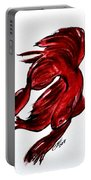 Art Doodle No.36 Betta Fish Portable Battery Charger by Clyde J Kell