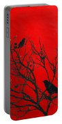 Raven - Black Over Red Portable Battery Charger