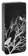 Raven - White Over Black Portable Battery Charger