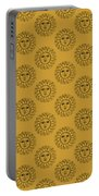 Vintage Celestial Sun Face Portable Battery Charger