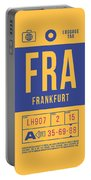 Retro Airline Luggage Tag 2.0 - Fra Frankfurt Germany Portable Battery Charger