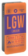 Retro Airline Luggage Tag 2.0 - Lgw London Gatwick Airport United Kingdom Portable Battery Charger