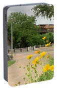 Urban Pathways Butler Park At Austin Hike And Bike Trail With Train Portable Battery Charger