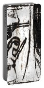 Assassin After Mikhail Larionov Black Oil Painting 10 Portable Battery Charger