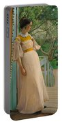 At The French Windows. The Artist's Wife Portable Battery Charger