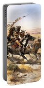Attack On The Wagon Train Portable Battery Charger
