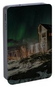 Aurora Borealis Over Harstad Portable Battery Charger