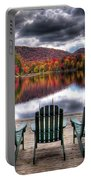 Autumn At The Lake Portable Battery Charger