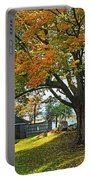 Autumn Day In The Salem Willows Salem Ma Red Portable Battery Charger