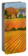 Autumn In French Vineyards Portable Battery Charger