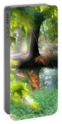 Autumn Leaves In The Morning Light Portable Battery Charger
