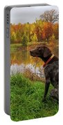 Autumn Pondering Portable Battery Charger
