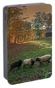 Autumn Sunset At The Old Farm Portable Battery Charger