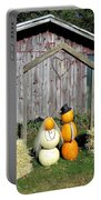 Autumn Wedding In The Pumpkin Patch Portable Battery Charger