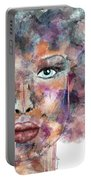 Autumn - Woman Abstract Art Portable Battery Charger