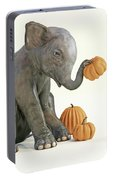Baby Elephant And Pumpkins Portable Battery Charger