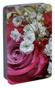 Baby's Breath And Roses Portable Battery Charger