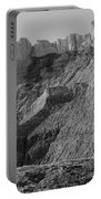 Badlands South Dakota Black And White Portable Battery Charger