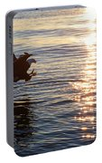 Bald Eagle At Sunset Portable Battery Charger