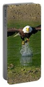 Bald Eagle Catching A Fish Portable Battery Charger
