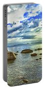 Bansai Rock, Lake Tahoe, Nevada, Panorama Portable Battery Charger