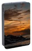 Barbados Sunset Clouds Portable Battery Charger