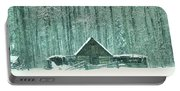 Barn In Snowfall Portable Battery Charger