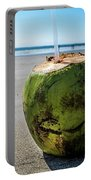 Beach Coconut Portable Battery Charger