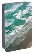 Beach Waves From Above Portable Battery Charger