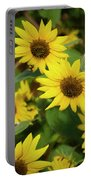 Bee And Sunflowers Portable Battery Charger