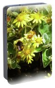 Bee On A Flower Portable Battery Charger